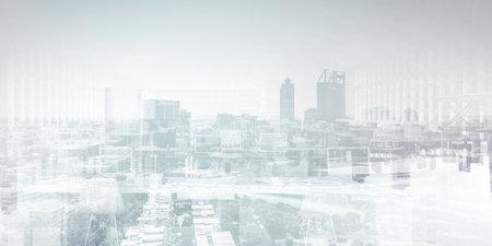 Smart city concept . Mixed media