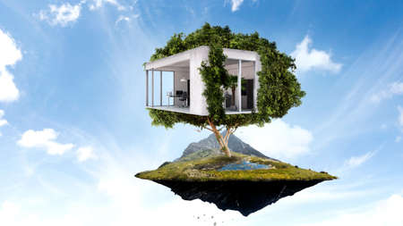 Real estate and ecology concept