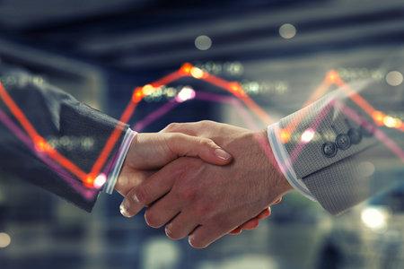 Partnership concept. Image of handshake 스톡 콘텐츠