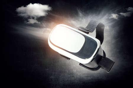 Image of floating virtual reality goggles Stockfoto