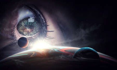 Human eye and space