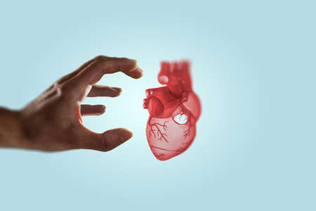Innovative medicine concept. Heart symbol Banque d'images