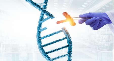 Innovative DNA technologies in science and medicine Reklamní fotografie - 167040927