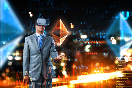 Virtual reality experience. Technologies of the future. Reklamní fotografie - 167041600