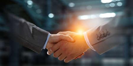 Partnership concept. Image of handshake Reklamní fotografie - 167040915