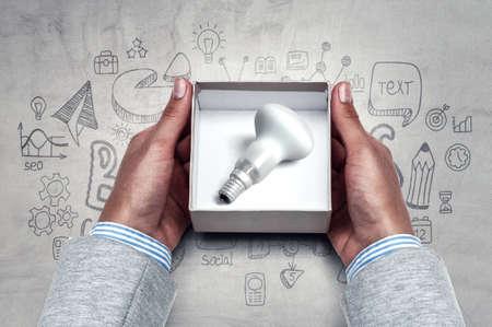 Light bulb as a symbol