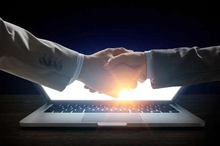 Partnership concept. Image of handshake Banque d'images