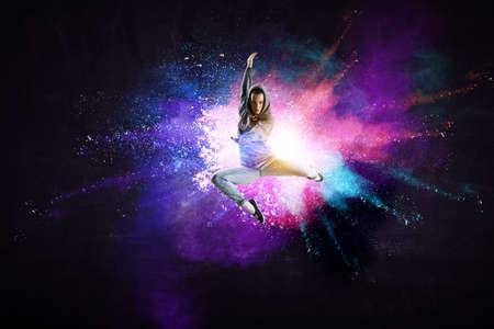 Modern female dancer in action