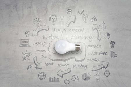 Light bulb image as symbol of innovation