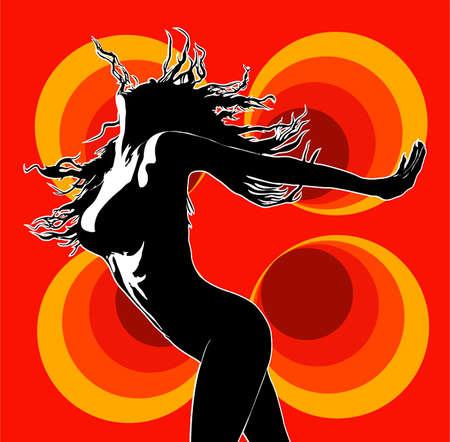 erotic: Disco 02 red Illustration