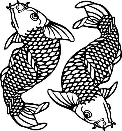 fish skin: Tattoo Japan Carp