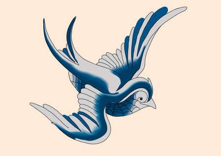 Tattoo Robin 04 Vector