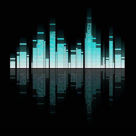 Illustration of sounding town