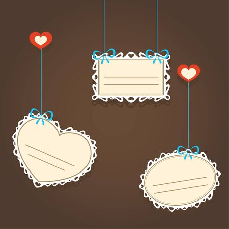 Illustration of lacy valentine frames Vector