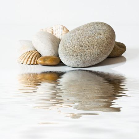 zen pebbles isolated closeup background