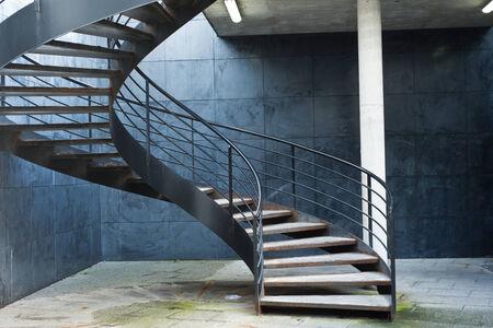 spiral stair in  a parking photo