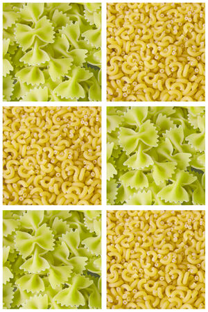 pasta color collage background photo