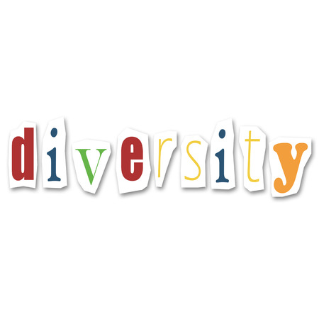 divided: creative divided word - Diversity Stock Photo