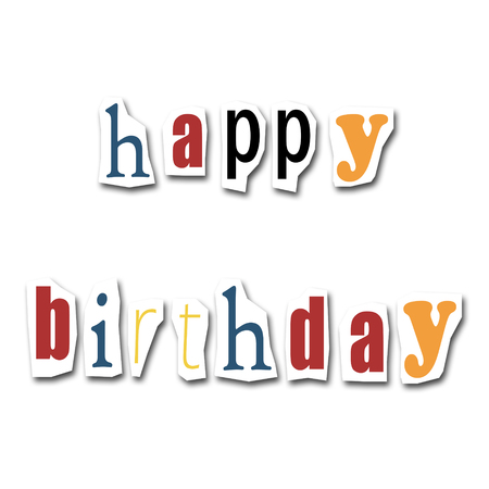 creative divided word - Happy Birthday  photo