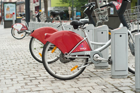 ourdoor: MULHOUSE - FRANCE - 13 th July 2014 - city bike vacation