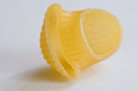 One pasta isolated on white background photo