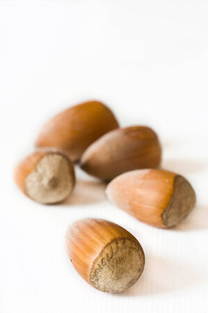 nutty: group of nuts closeup on white background