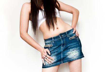 girl with sexy jean