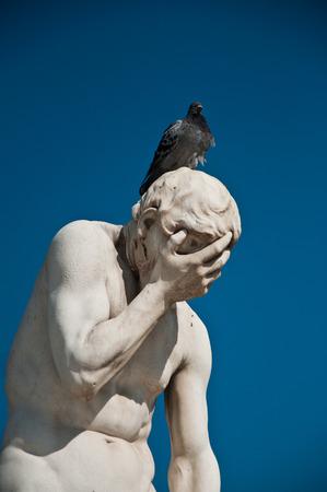 Statue in Tuileries garden in Paris
