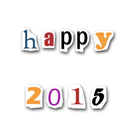 divided: creative divided word - Happy new year