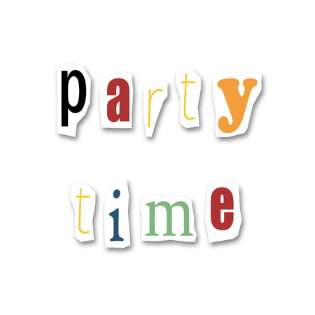 divided: creative divided word - Party time