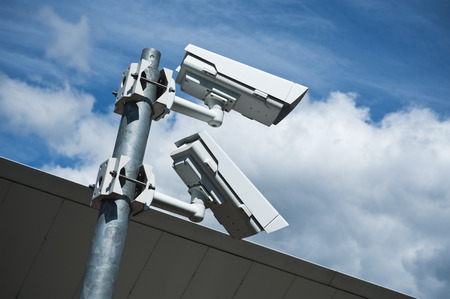 electronic security video camera  of surveillance