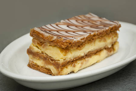 french mille-feuille cake closeup Stock Photo