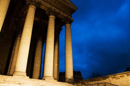 madeleine: La madeleine church in Paris by night