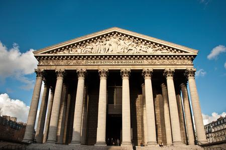La madeleine church in Paris photo