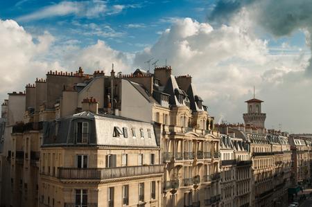 typical ancient parisian Building in Paris - France photo