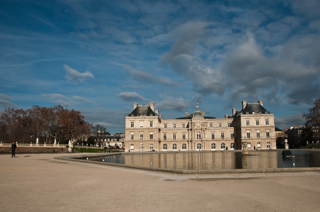 statuary garden: Luxembourg Gardens in Paris, France Editorial