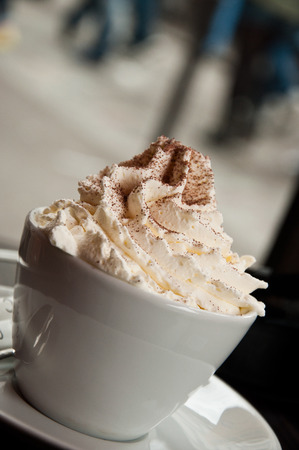 Viennese coffee with chantilly cream Stockfoto