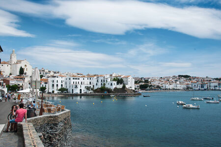 selva: Cadaques village -Costa brava - Spain - taken 2 July 2013