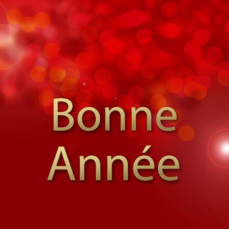 Abstract bokeh card Happy new year photo