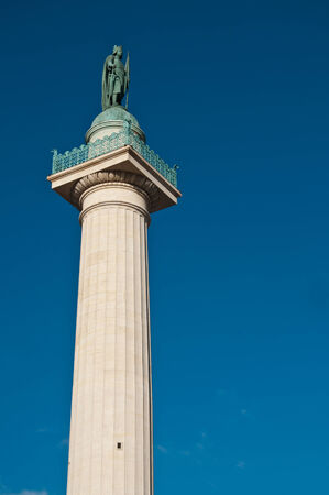 lonelyness: column place of the Nation in Paris Stock Photo