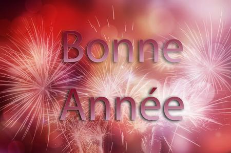 frans: Gelukkig Nieuwjaar vuurwerk achtergrond