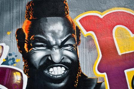 mister: Mulhouse - France - 25 September 2014 - Urban Art - Mister T