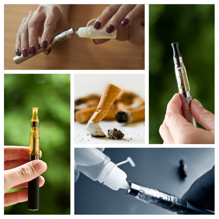 background e cigarette: e-cigarette collage