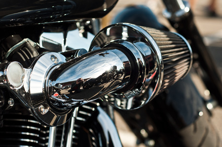 harley davidson: Lutherbach - France - 19 October 2014 - Harley Davidson motorbke closeup Editorial
