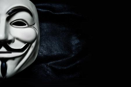 vendetta: Vendetta mask symbol for the online hacktivist group Anonymous