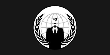 프랑스 2015년 1월 26일 익명 플래그 - 온라인 hacktivist 그룹 익명에 대한 기호