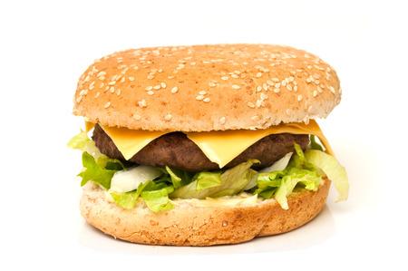 hamburger: hamburger on white background