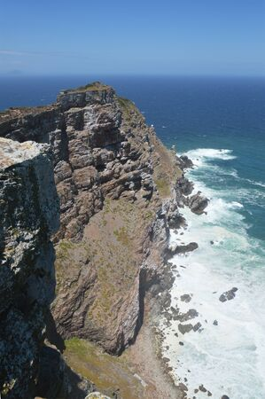 cape of good hope: the savage coast and rocks at Cape of  good hope reserve - South Africa