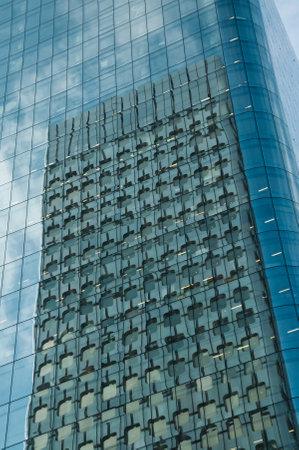 reflexion: PARIS - France - 23 March 2015 - La defense Buildings reflexion