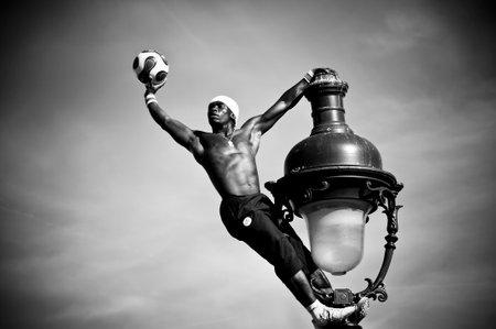 PARIS - france - 1 April 2012 - Iya Traore freestyler in Montmartre quarter